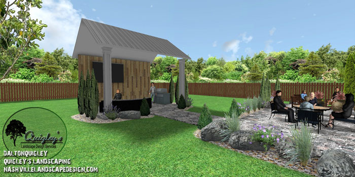 Cabana-Rocks, Nashville, Brentwood, Franklin, Spring Hill TN, Quigley's Landscaping and Landscape Design Service contractors.