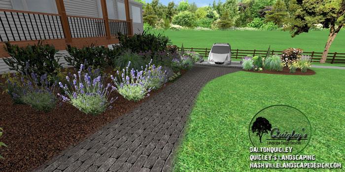 Cottage-Landscape-Design, butterflies and bee garden