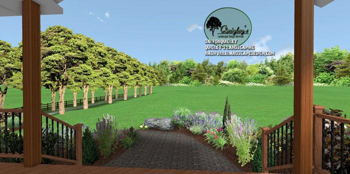 Nashville-Hardscape-design, butterflies and bee garden