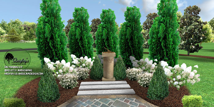 Nashville-focal-point-landscape design