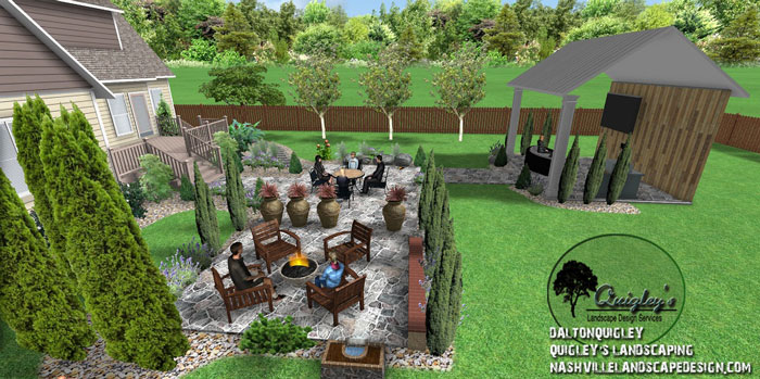 Open-patio, Nashville, Brentwood, Franklin, Spring Hill TN, Quigley's Landscaping and Landscape Design Service contractors.