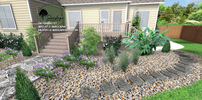 Stone-landscape-design, Nashville, Brentwood, Franklin, Spring Hill TN, Quigley's Landscaping and Landscape Design Service contractors.