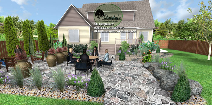 flagstone-landscape-design, Nashville, Brentwood, Franklin, Spring Hill TN, Quigley's Landscaping and Landscape Design Service contractors.