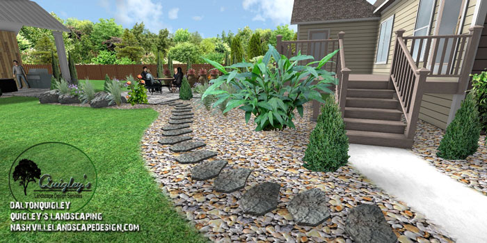stepping-stones, Nashville, Brentwood, Franklin, Spring Hill TN, Quigley's Landscaping and Landscape Design Service contractors.