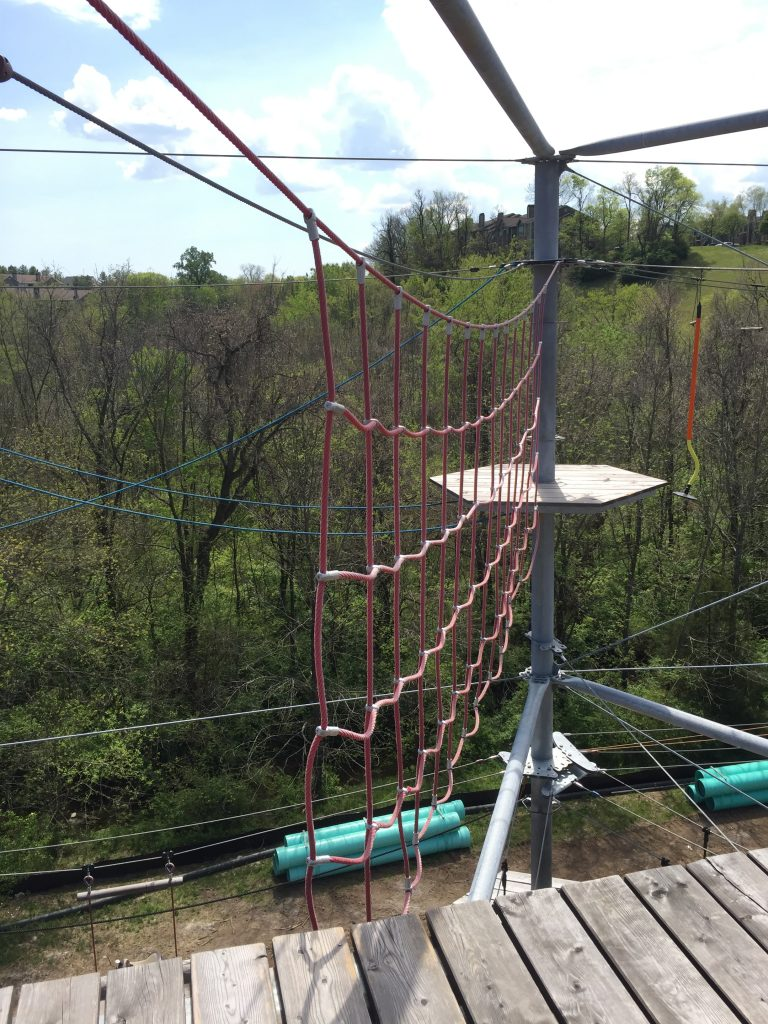SOAR Adventure Tower Nashville rope climbing