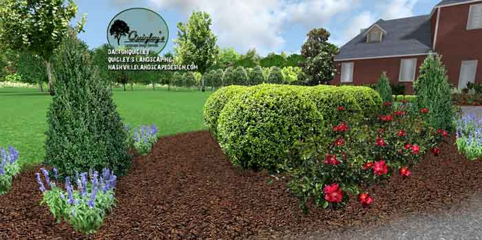 Traditional colonial home nashville landscape design for Colonial landscape design