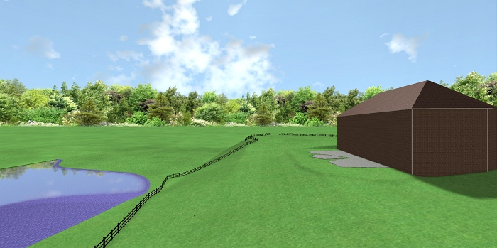 2 These are basic graphic imags of the landscape design.