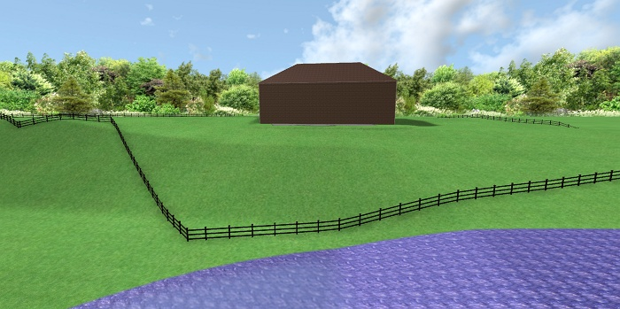3 These are basic graphic imags of the landscape design.