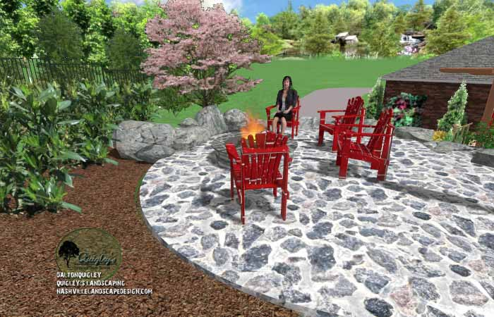 Fall stone fire pit area11