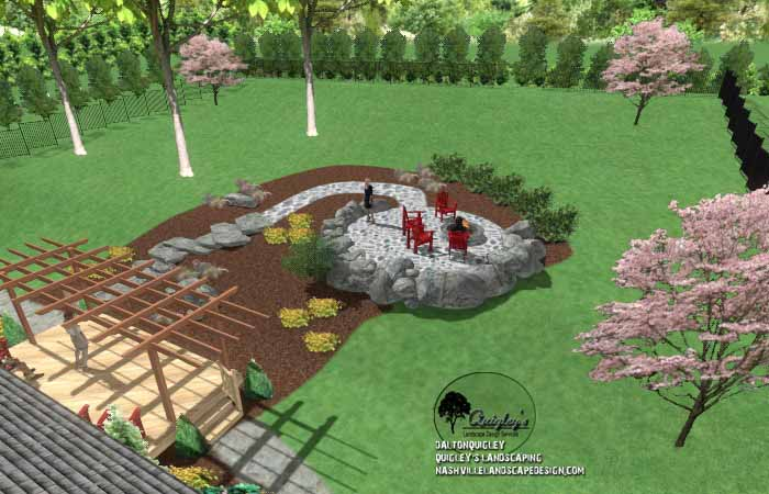 Fall stone fire pit area23