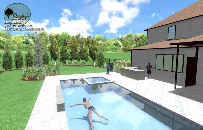 Pool Life backyard design013